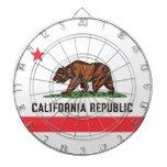 Tablero de dardo de la BANDERA de CALIFORNIA