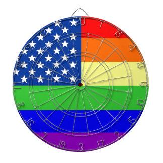 Tablero de dardo de la bandera del orgullo gay