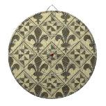 Tablero de dardo de la flor de lis de New Orleans Tabla Dardos