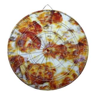 tablero de dardo de la pizza de salchichones