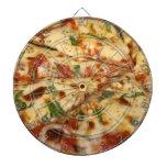 Tablero de dardo de la pizza tablero dardos