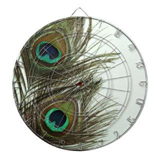 Tablero de dardo de la pluma del pavo real
