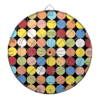 Tablero de dardo de los lunares del multicolor