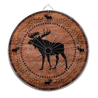 Tablero de dardo de madera rústico del círculo de