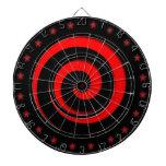 Tablero de dardo de regla de la rueda roja tabla dardos