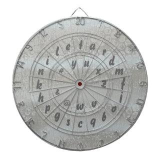 Tablero de dardo del alfabeto del juego de palabra tabla dardos