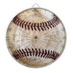 Tablero de dardo del béisbol del vintage para su tablero dardos