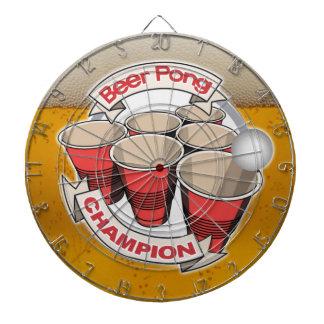 Tablero de dardo del campeón de Pong de la cerveza