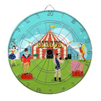 Tablero de dardo del circo del vintage