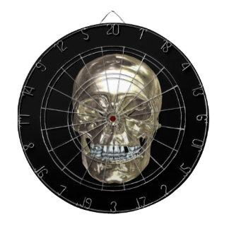 Tablero de dardo del cráneo del cromo