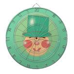Tablero de dardo del dibujo animado del Leprechaun Tablero Dardos