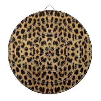 Tablero de dardo del estampado leopardo