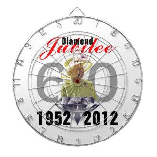 Tablero de dardo del jubileo de diamante tablero de dardos