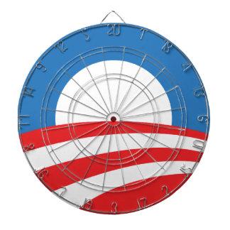 Tablero de dardo del logotipo de Obama
