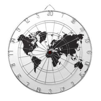 tablero de dardo del mapa del mundo