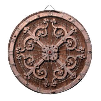 Tablero de dardo del medallón tabla dardos