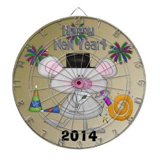 Tablero de dardo del ratón del Año Nuevo Tablero Dardos