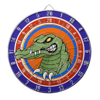 Tablero de dardo del reptil del cocodrilo