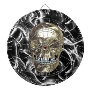 Tablero de dardo eléctrico del cráneo del cromo