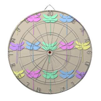 Tablero de dardo en colores pastel del modelo de