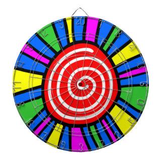 Tablero de dardo espiral colorido del diseño tabla dardos