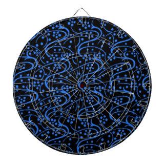 Tablero de dardo floral del negro azul del remolin tabla dardos