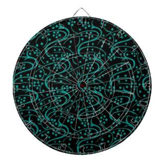 Tablero de dardo floral del negro del trullo del r tabla dardos