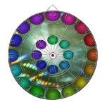 Tablero de dardo futurista del arco iris 3D 16c Tabla Dardos