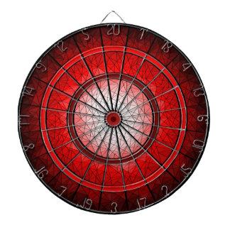 Tablero de dardo geométrico de rubíes del diseño