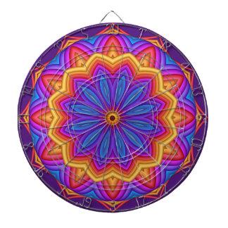 Tablero de dardo geométrico del medallón de la