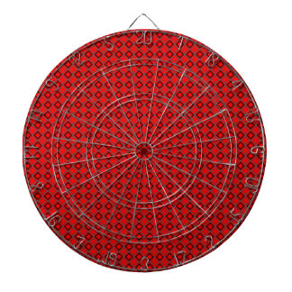 Tablero de dardo geométrico rojo del Dartboard del