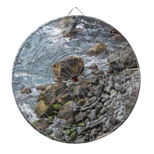 Tablero de dardo hawaiano de las rocas del océano  tablero de dardos