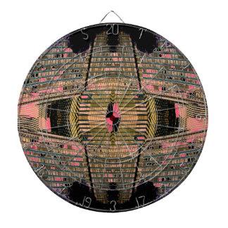 Tablero de dardo inusual del estilo retro del art  tabla dardos