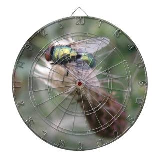 Tablero de dardo macro de la mosca verde de la bot