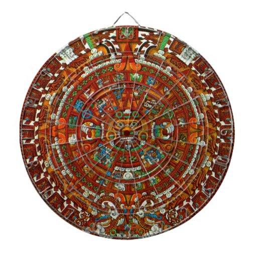 Tablero de dardo maya del calendario