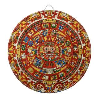 Tablero de dardo maya profético del calendario del