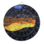 Tablero de dardo original de la pintura del flujo  tablero dardos