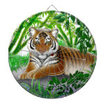 Tablero de dardo pacífico del tigre de Bengala Tablero De Dardos