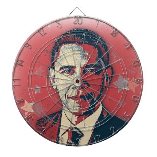 Tablero de dardo patriótico del arte pop de Obama