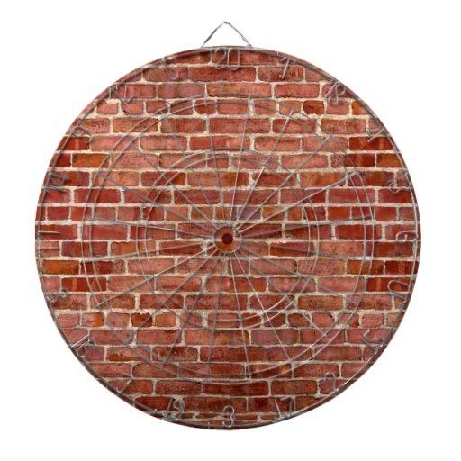 Tablero de dardo personalizado pared de ladrillo d tablero de dardos