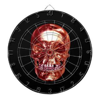 Tablero de dardo rojo del cráneo del cromo