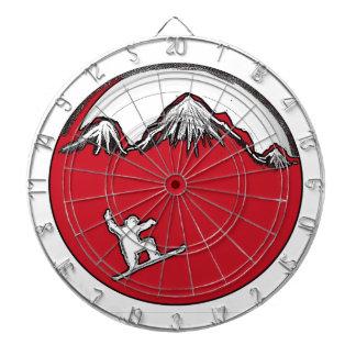 Tablero de dardo rojo del tema de la snowboard del tablero de dardos
