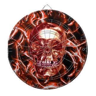 Tablero de dardo rojo eléctrico del cráneo del