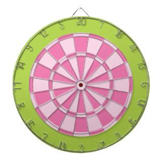 Tablero de dardo: Rosa claro y verde lima