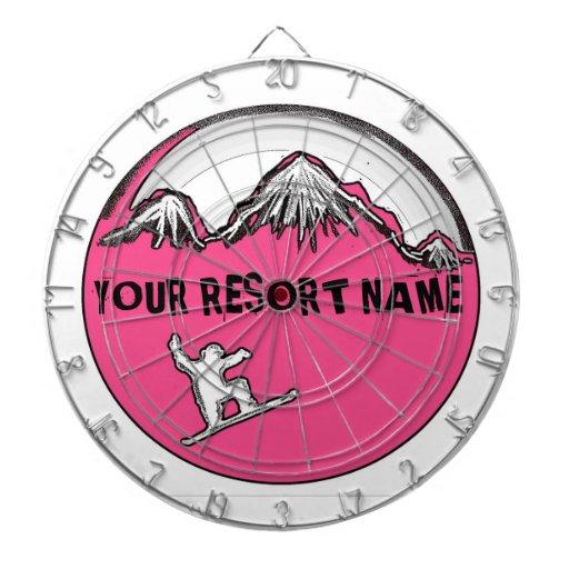 Tablero de dardo rosado adaptable de la snowboard  tablero dardos