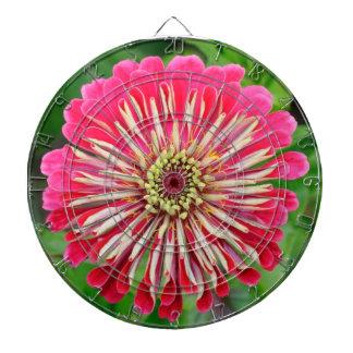Tablero de dardo rosado de la flor