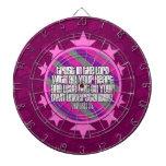 Tablero de dardo (rosado) del 3:5 de los proverbio tablero dardos