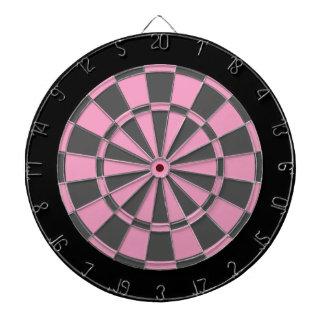 Tablero de dardo: Suavemente rosado, gris, y negro