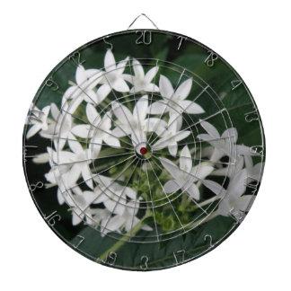 Tablero de dardo tropical blanco hermoso de las