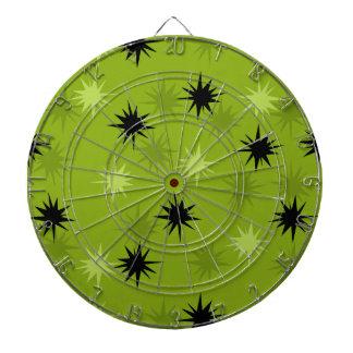 Tablero de dardo verde atómico de Starbursts